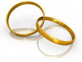 Złoty rings2 — Zdjęcie stockowe