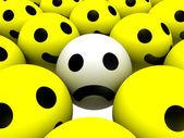 üzgün smiley — Stok fotoğraf