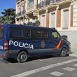Spanish police van — Stock Photo