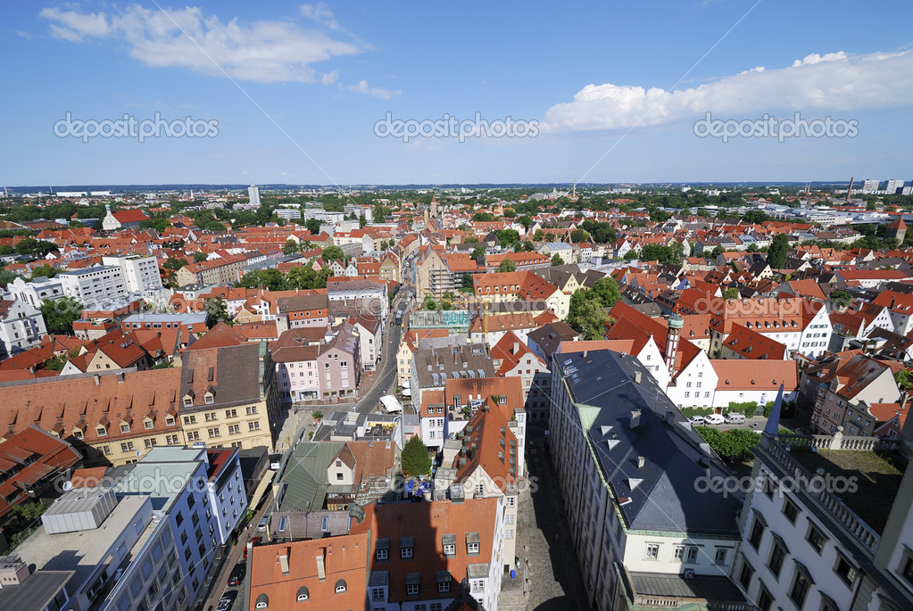 View over the city of Augsburg (Bavaria, Germany) — Stock Photo #7376564
