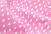 Pink Polka Dot Fabric — Stock Photo