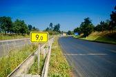 9. kilometr silnice signál — Stock fotografie