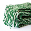 Knitted green scarf — Stock Photo