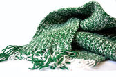 Knitted green scarf — Stock fotografie