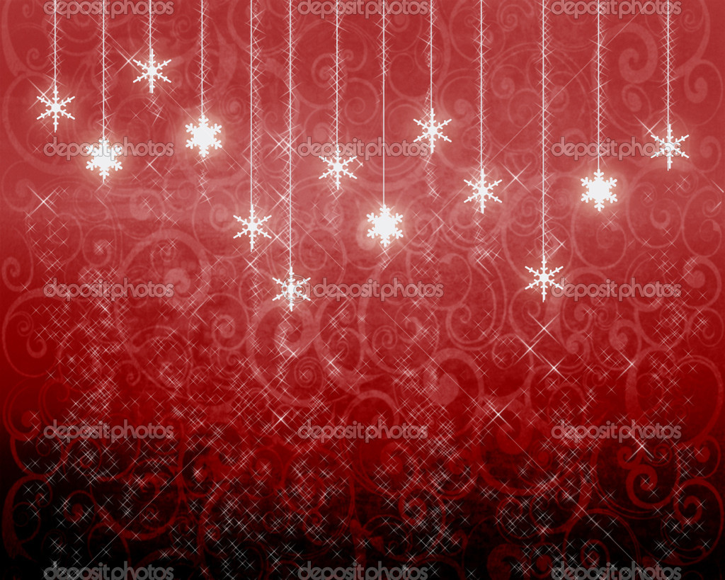 Vector Red New Year's background — Stock Photo #7738998