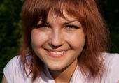 Niña sonriente — Foto de Stock
