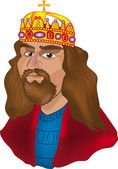 King portrait — Stock Vector