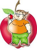 Fat woman — Stock Vector