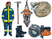 Fireman equipment — Stock Photo