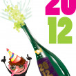 Happy new year 2012 — Stock Vector