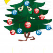 Poor christmas tree — Stock Vector