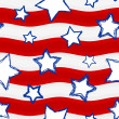 Fourth of July Stars and Stripes Seamless Background — 图库矢量图片