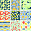 Set of 9 seamless backgrounds — Stock Vector #7299021