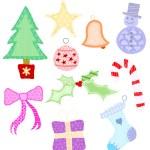 Christmas Appliqué Shapes — Stock Vector #7334361