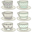 Teacups — Stock Vector
