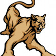 Постер, плакат: Cougar Mascot Body Vector Illustration