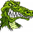 Alligator Mascot Vector Cartoon - Stock Vector