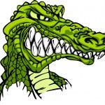 Alligator Mascot Vector Cartoon — Stock Vector