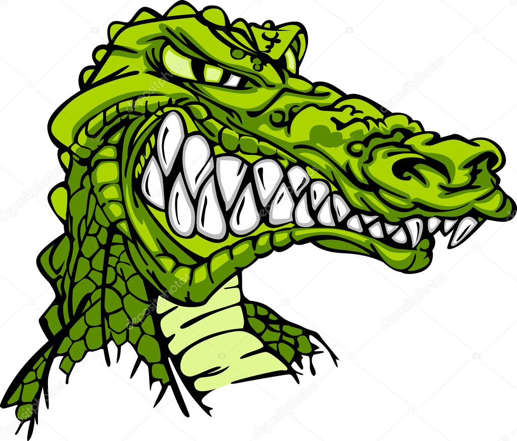 Cartoon Image of a Gator or Crocodile — Imagen vectorial #6748338
