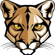 Cougar Panther Mascot Head Vector Graphic — Stock Vector #6769922