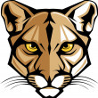 Cougar Panther Mascot Head Vector Graphic - Imagen vectorial