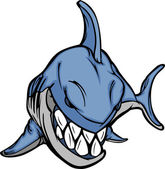 Cartoon Shark Mascot Vector Image — Stock Vector