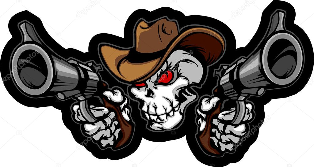 Cowboy Skull Free Vector Art  1316 Free Downloads
