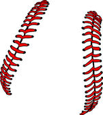 Baseball Laces or Softball Laces Vector Image — Stock Vector