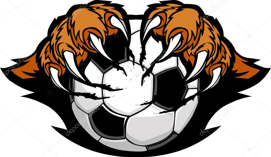 Artigli di tigre possesso un cartone animato calcio