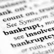 Stock Photo: Dictionary Series - Bankrupt