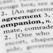 Dictionary Series - Companion — Stock Photo #7349865