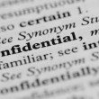 图库照片: Dictionary Series - Confidential