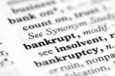 Dictionary Series - Bankrupt — Stock Photo