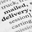 Stock Photo: Dictionary Series - Delivery