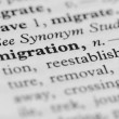 Dictionary Series - Emigration — Stock Photo