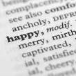 Stock Photo: Dictionary Series - Happy