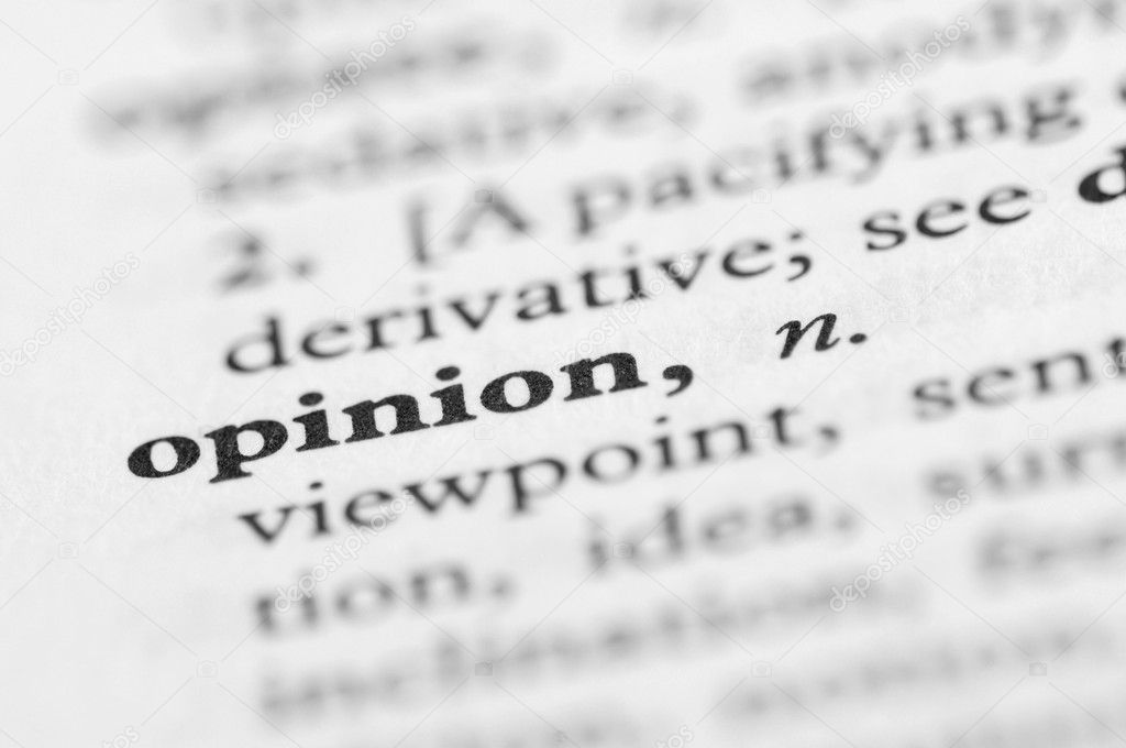 Dictionary Series - Opinion — Stock Photo #7351896