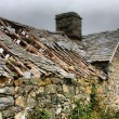 Stock Photo: Disused old ruined barn in Wales