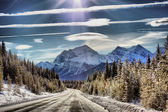 Columbia Icefields Parkway, Canada — Stock Photo