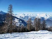 Alpine scene, Verbier, Switzerland — Stock Photo