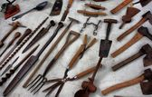 A selection of old tools — Stockfoto