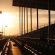 Empty grandstand at dusk — Stock Photo