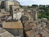 Sorano village, tuscany italy — Stock Photo
