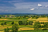 Church on the beautiful hill in springtime — Stock Photo