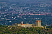 Amazing Medvedgrad castle & Croatian capital Zagreb — Stock Photo