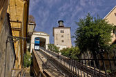 Cable car lift in Zagreb - way to upper town — Stock Photo