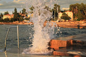 Power of the sea - wave crash — Stock Photo