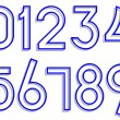 Royalty-Free Stock Vector Image: Carved numbers 0-9