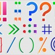 Set of punctuation marks — Imagen vectorial