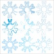Snowflakes collection — Stock Vector #7298408